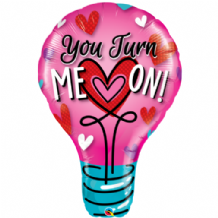 You Turn Me On! Large Foil Balloon 1pc